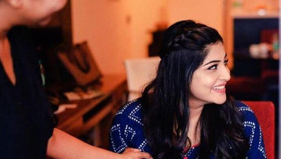 Manjima Mohan is inFrance shooting for Malayalam remake of Queen.