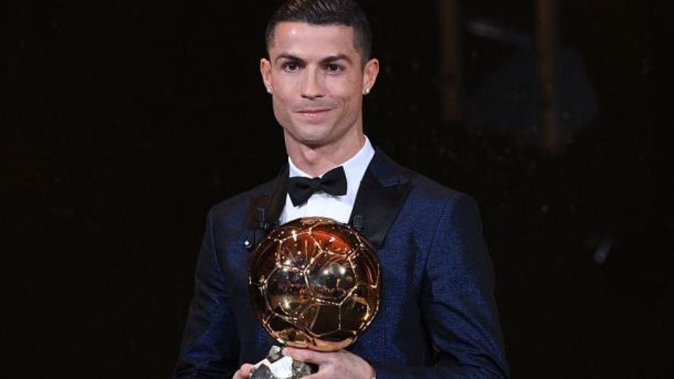 Cristiano Ronaldo beat Lionel Messi to win the Ballon d'Or award for the fifth time and the second year in a row.