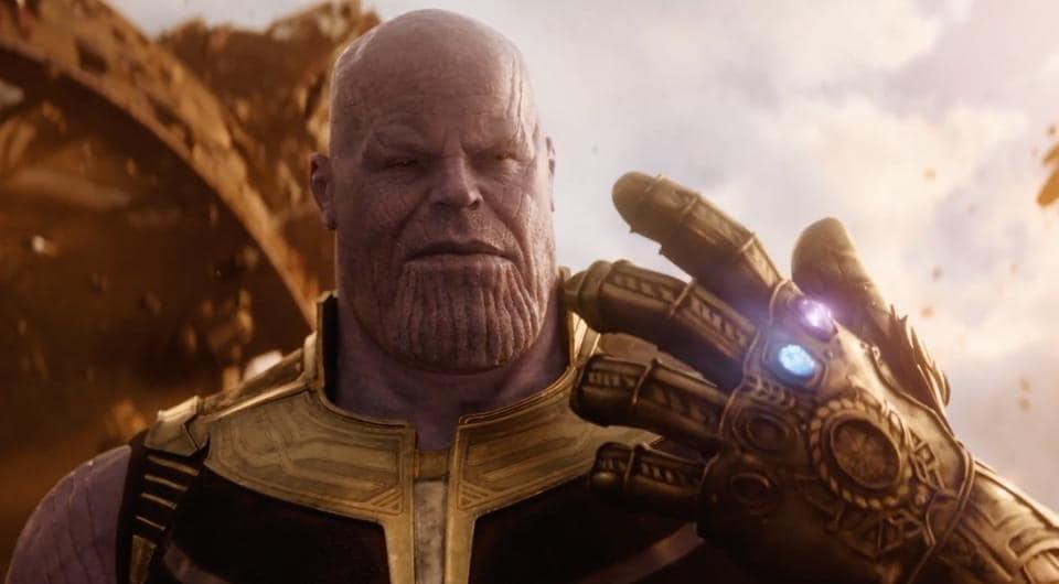 Josh Brolin as Thanos in the Avengers: Infinity War trailer.