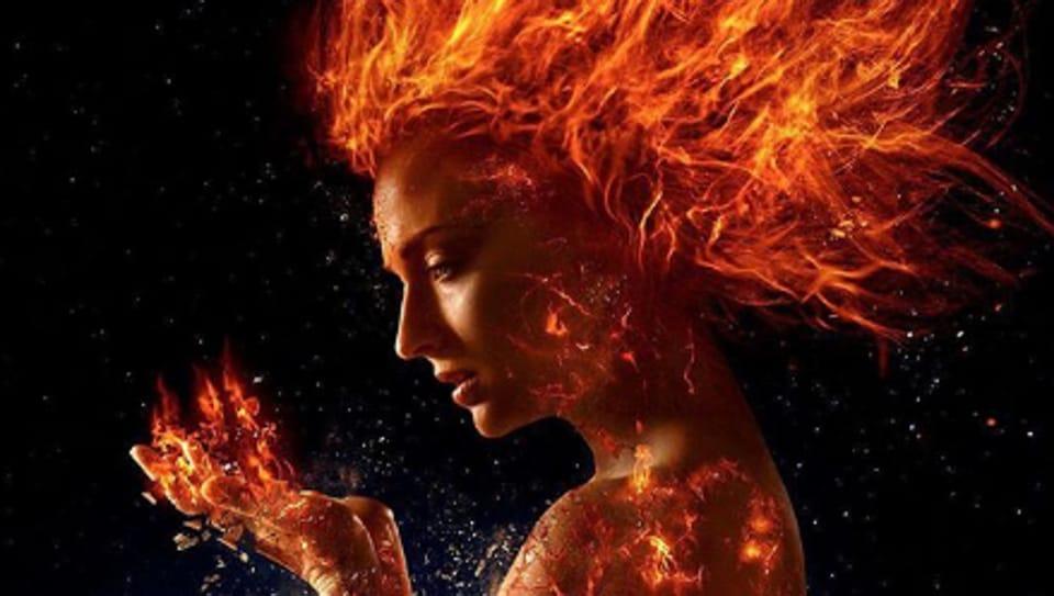 Sophie Turner as Jean Grey/Dark Phoenix in X-Men: Dark Phoenix.