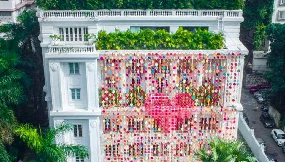 Manish Arora made an art installation titled All We need is Love for Jindal Mansion.