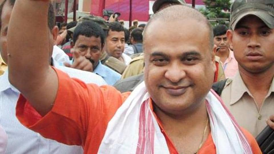 File photo of Himanta Biswa Sarma after winning in the assembly elections in Guwahati.