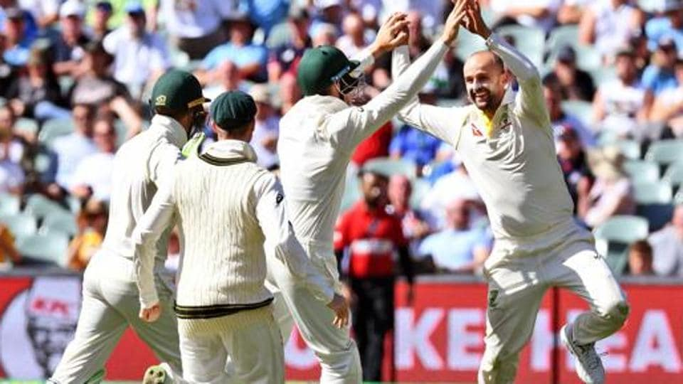 With 11 wickets in two games, Nathan Lyon (R) is the second highest wicket-taker in the Ashes so far.