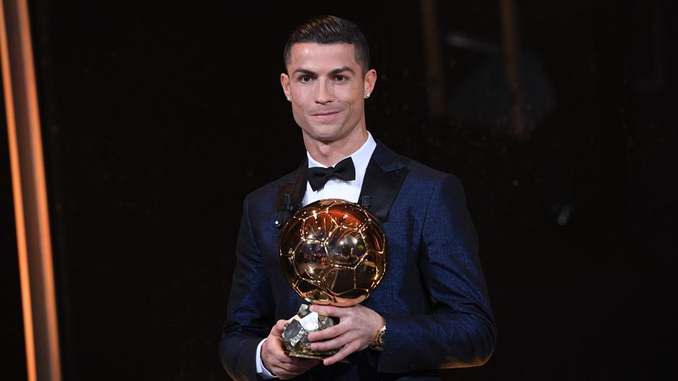 Cristiano Ronaldo beat Lionel Messi to win the Ballon d'Or award for the fifth time and the second year in a row. (AFP)