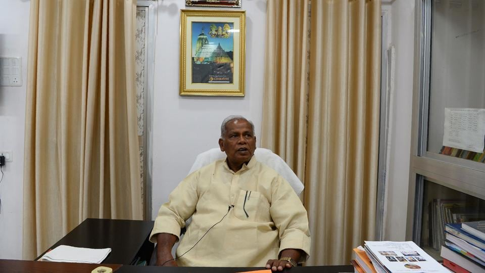 "Jitan Ram Manjhi (above) who in 2014 became the first Musahar CM poses for a photo at his office in Patna. ""Nothing but education can change our lives and future"", said Manjhi whose nine-month tenure heading Bihar is considered a huge achievement. ""My community is so downtrodden that I think even government records don't yet show its real numbers, which could easily be around 8 million,"" Jitan added. (Sajjad Hussain / AFP)"