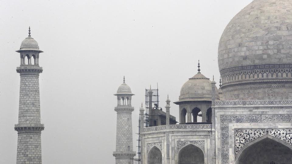 Work on the mausoleum's minarets and walls now almost complete, commenced in mid-2015. Bhuvan Vikrama, the superintending archaeologist from the Archaeological Survey of India said in the past rain was enough to clean most of the Taj Mahal but air pollution over the last 25 years has taken its toll, visibly turning the structure yellow. (Manish Swarup / AP)
