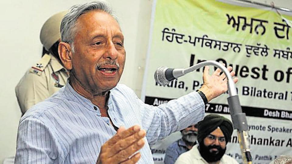 """Former Congress MP Mani Shankar Aiyar has kicked up a row after he referred to Prime Minister Narendra Modi as a """"neech aadmi""""."""