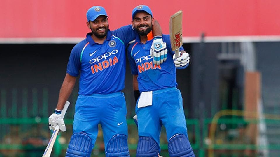 Rohit Sharma (L) will be captaining India against Sri Lanka in the limited-over series in the absence of Virat Kohli.