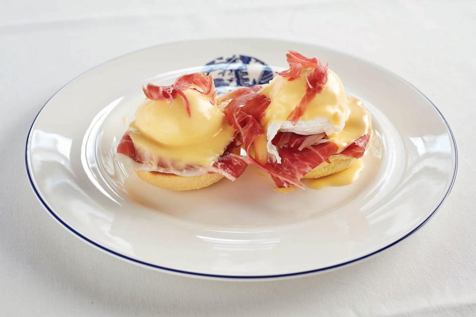 The Iberico Eggs Bendict at Hotel Cafe Royal make for a delicious breakfast