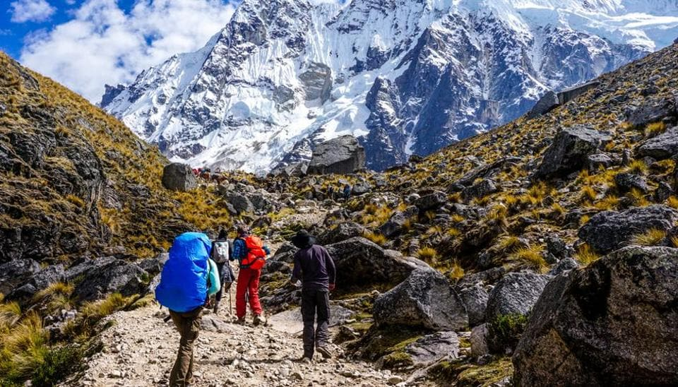 Embark on the Inca trail to Machu Picchu, a 39-kilometre trekking and camping trail.