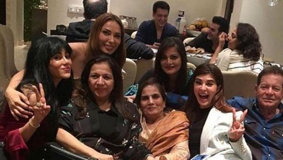 Salman Khan Celebrates Mother Salmas Birthday With Family See Pics