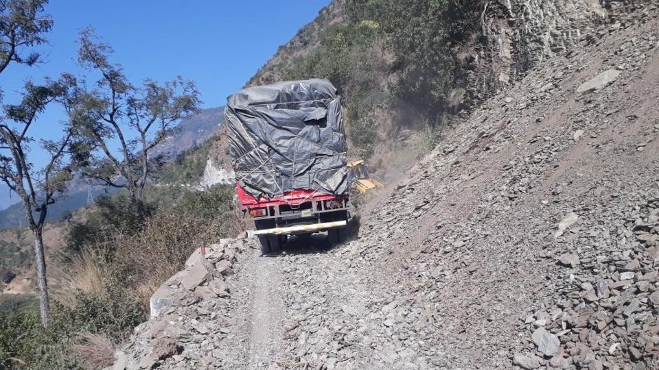 The road remains choked at over a dozen points, some of which are Mena Bazar Ghat, Shahid gate, Matela, Matela curve, Dhaun and Swala curve.