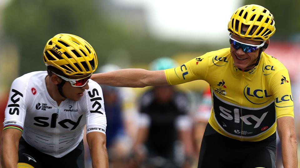 Chris Froome took his place among exalted company by becoming just the third man to win the Tour de France and Vuelta a Espana in the same year. The Team Sky rider clinched his fourth yellow jersey in five years in July and followed that up by adding a red one two months later – the first man to complete the double in that order. (Getty Images)