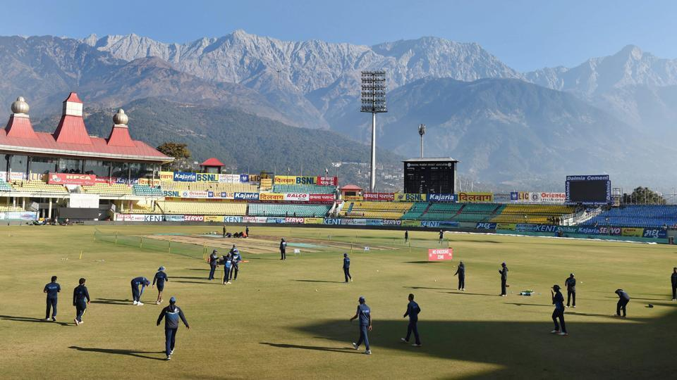 Sri Lankan were hard at practice in Dharamshala ahead of the first ODI vs India.  (PTI)