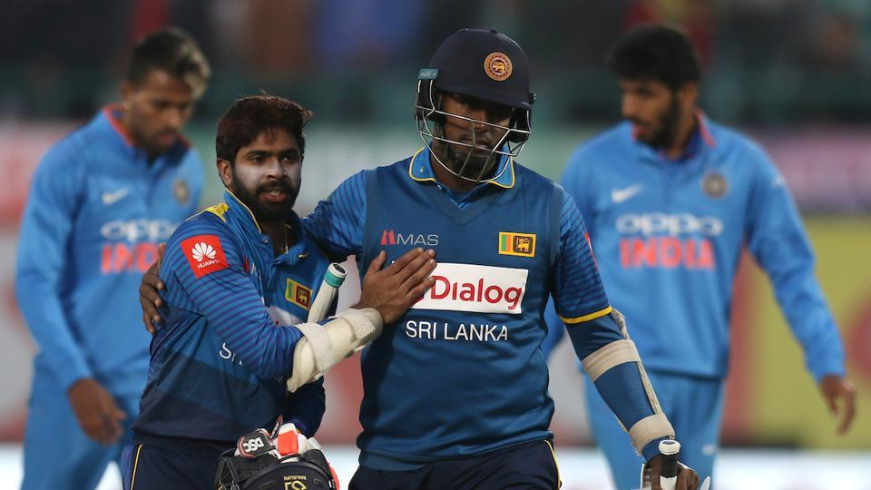 Mathews, 25 not out, and Niroshan Dickwella, on 26, then steered their team home for a win savoured by the visitors after losing the three-Test series 1-0 last week. (BCCI )