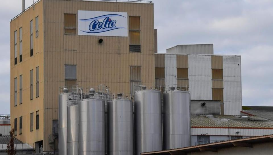 This picture taken on December 4, 2017 shows the Celia dairy company's infant milk factory that belongs to the LNS Lactalis group in Craon, western France.