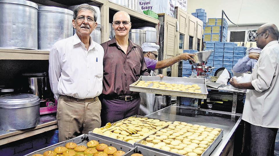 Rustom Kayani (R) and Sohrab Kayani (L) with products at Kayani Bakery on East street, Camp on December 4.