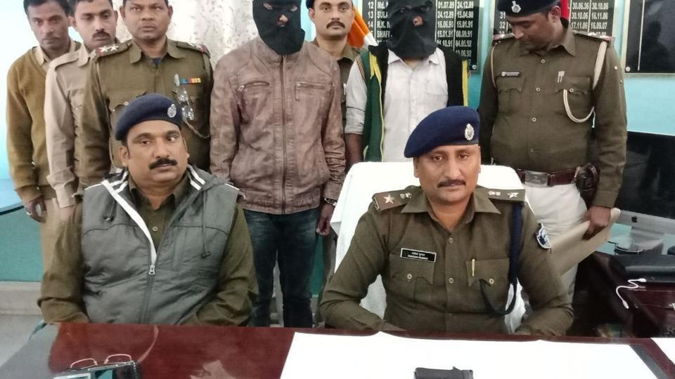 Contract killer Avinash Kumar Srivastva in police custody on Saturday.