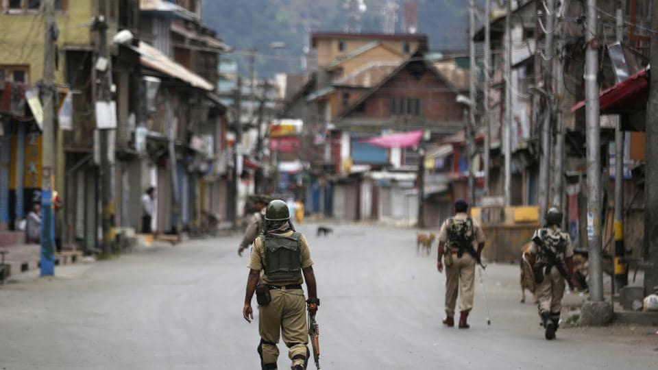Srinagar,Restrictions,Protest march