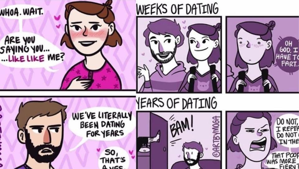 Illustrator Meg Quinn's comics describe every long-term relationship ever.