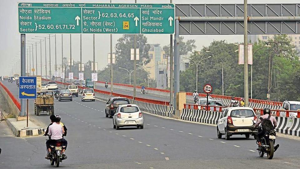 Noida Elevated Road,Vishwa Bharti Public School,CCTV