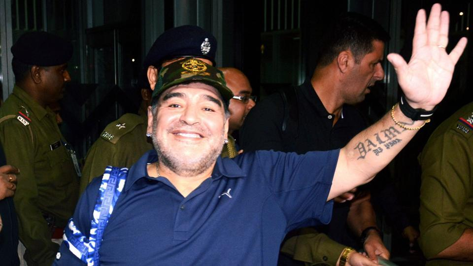 Given the love Maradona gets from the city, he will enjoy playing in the charity match vs Sourav Ganguly's team.  (PTI)