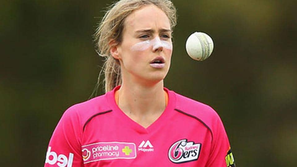 Ellyse Perry stopped play to check on an injured fan during her Women's Big Bash League match.