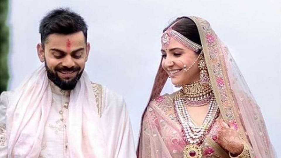 Designer Sabyasachi Mukherjee was the man behind actor Anushka Sharma's princess-like wedding lehenga.
