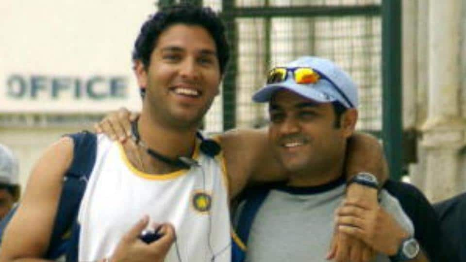 Virender Sehwag led the birthday wishes for Yuvraj Singh as India's star all-rounder turned 36 on Friday.
