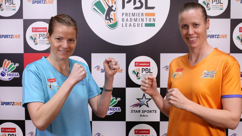 Kamilla Rytter Juhl (left) will play for Ahmedabad Smash Masters, while Christinna Pedersen will hit the courts for Awadhe Warriors in the Premier Badminton League (PBL) this year.