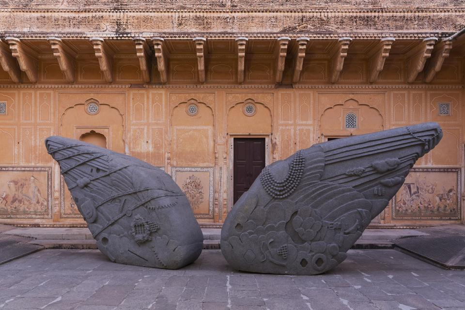 A sculpture, Thukral &Tagra, at the fort.