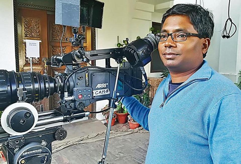 Director Raj Kumar Gupta during the shoot of Raid in Lucknow.