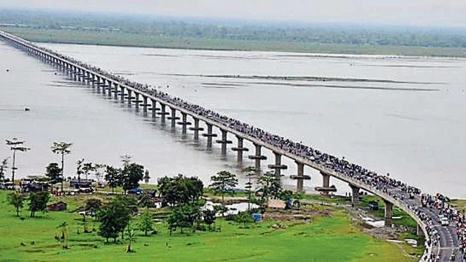 Longest bridge,Bhupen Hazarika Setu,Lohit river