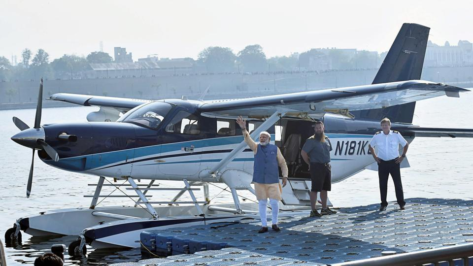 Gujarat: 'Karachi' flues more buzz over Modi's seaplane ride