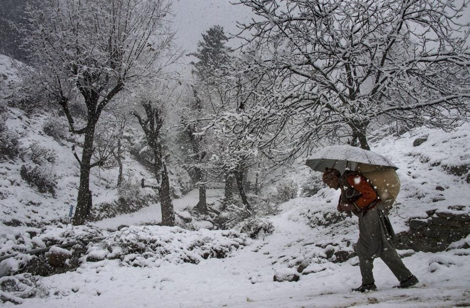 Srinagar,Snow in Srinagar,Jammu and Kashmir