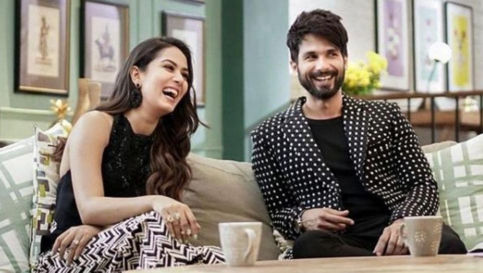 Actor Shahid Kapoor and wife Mira shot for the second season of Vogue BFFs in Mumbai on Monday, wearing matching monochrome outfits.