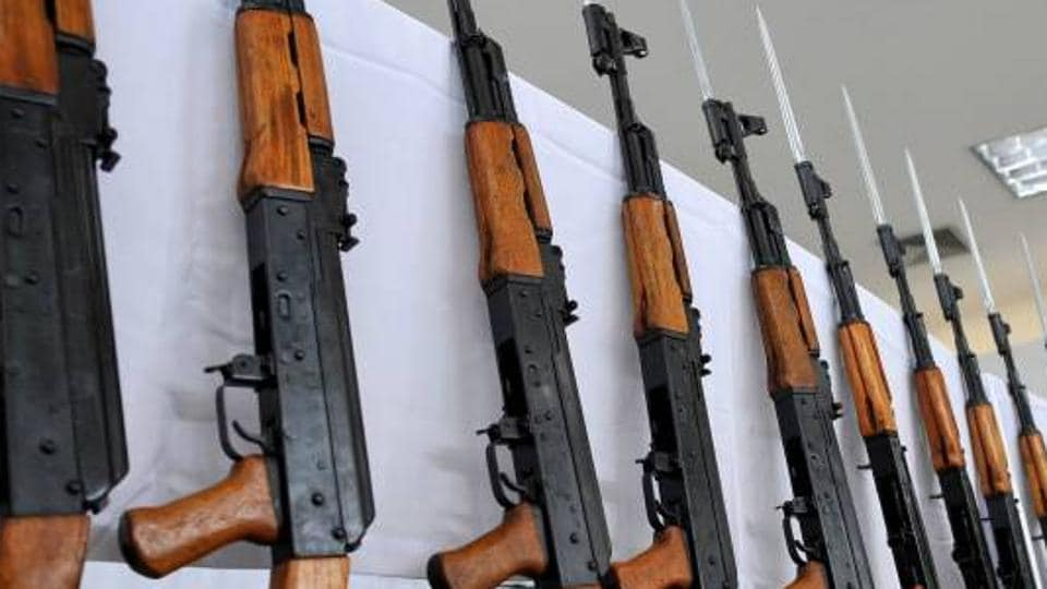 BJP,AK-47 assault rifle,Viral photo