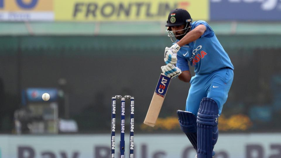 Rohit Sharma started slowly as India laid a solid ground for a big score against Sri Lanka. (BCCI)