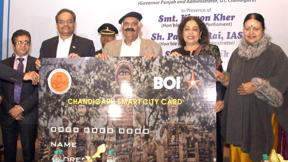 Image result for smart city card launch in chandigarh