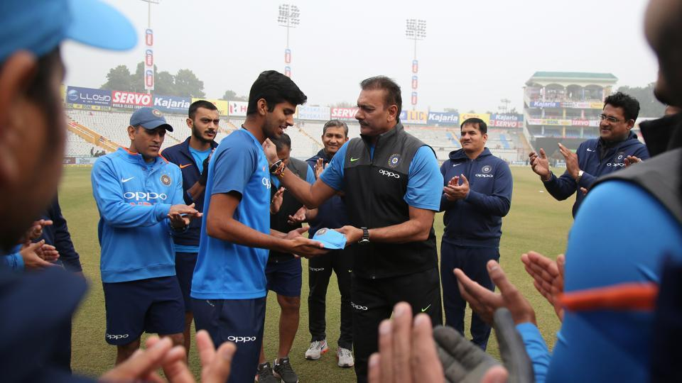 Washington Sundar was handed a debut ahead of the second ODI against Sri Lanka in Mohali.  (BCCI)
