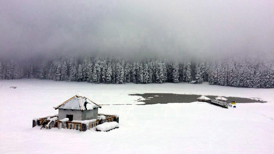 Snowfall In Himachal State Reels Under Biting Cold