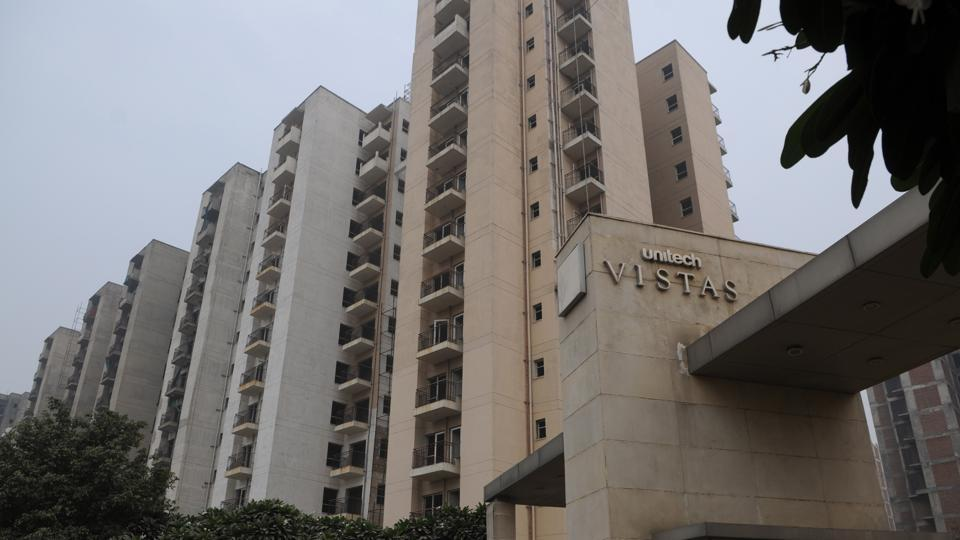 An under-construction project of real estate firm Unitech in Gurgaon.