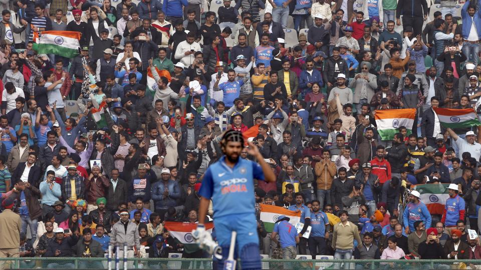 Rohit Sharma scored his 16th century as India eyed a big score.  (AP)