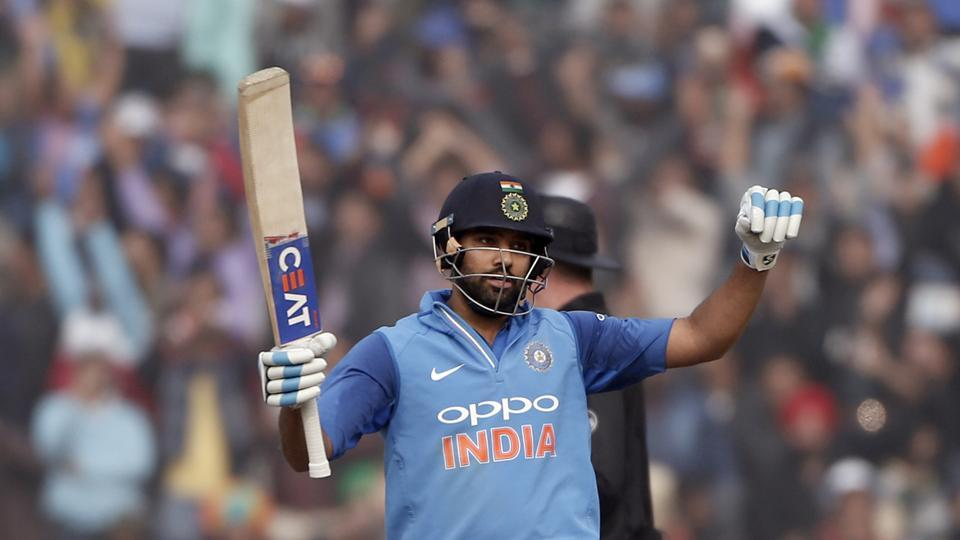 Rohit became the first batsman to score a double century for the third time in ODIs.  (AP)
