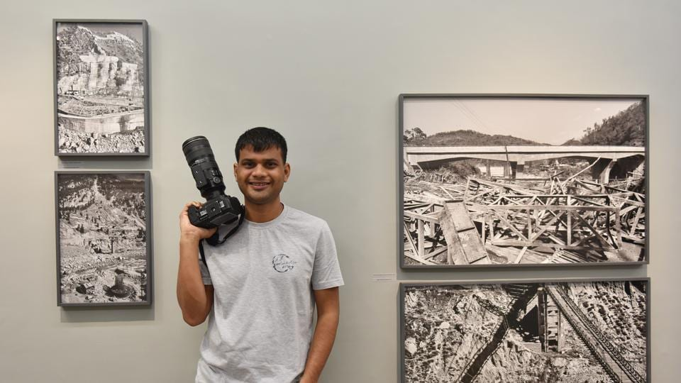 Vicky Roy, a documentary photographer, at Vadehra Art Gallery, Delhi, which is hosting his exhibition This Scarred Land: New Mountainscapes.