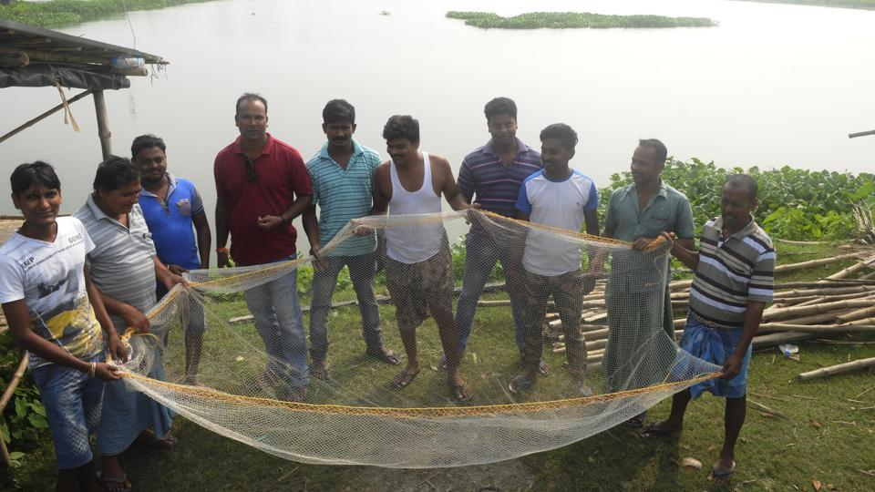 A fishery pond, which locals are trying to save from land grabbers, in South 24 Paraganas district in Bengal.