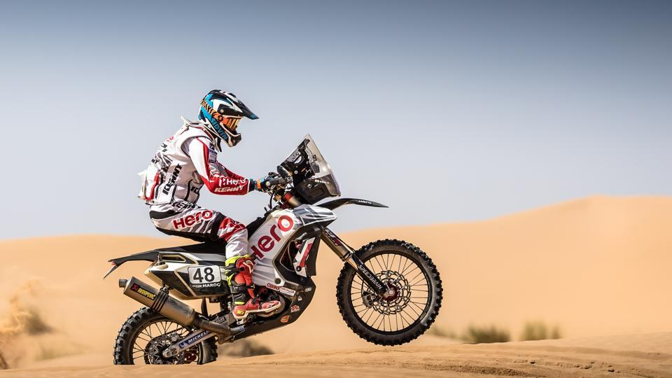 CS Santosh, who will ride a modified 450cc bike at the 2018 Dakar Rally, used the bike at the Merzouga Rally in Morocco in October and finished 13th.