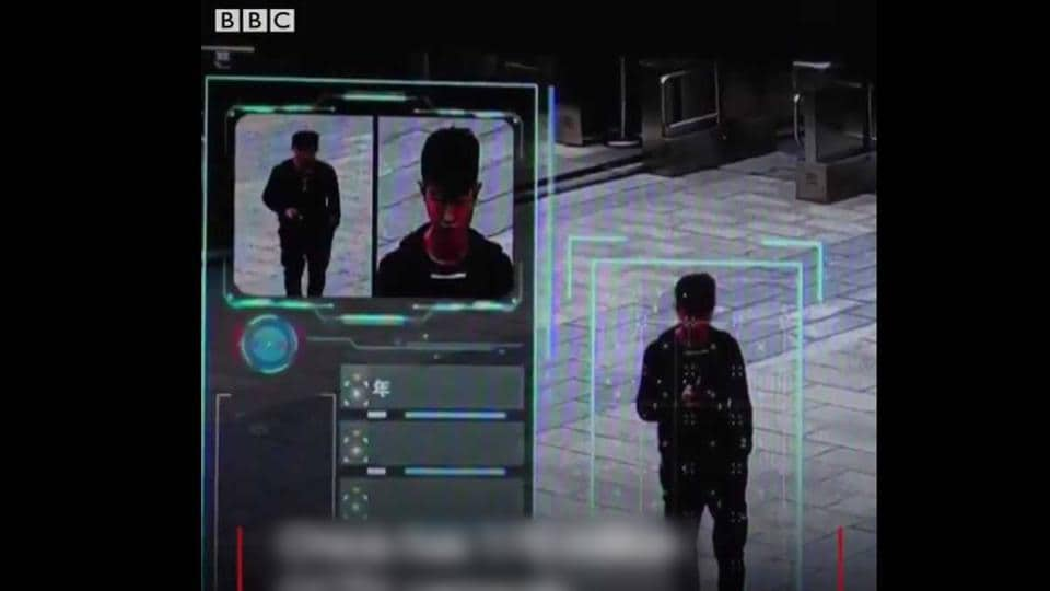 Chinese officials say the  CCTV cameras are capable of linking faces to ID cards and can also estimate age, ethnicity, and gender of a person