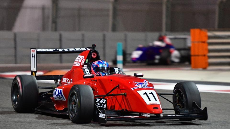 Felipe Drugovich qualifies on pole for Race 1 of MRF Challenge Abu Dhabi round