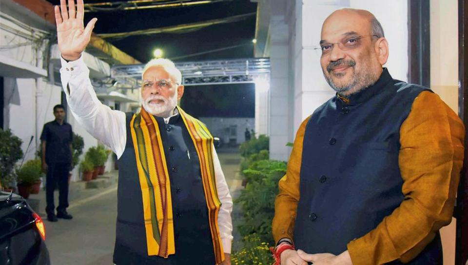 The Congress has alleged that Prime Minister Narendra Modi and BJP president Amit Shah violated the model code of conduct in Gujarat.